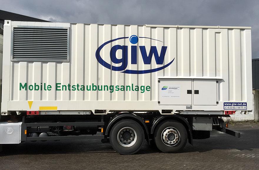 GIW - Mobile Entstaubungsanlage